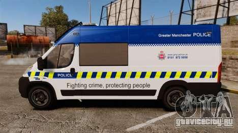 Fiat Ducato Manchester Police [ELS] для GTA 4 вид слева