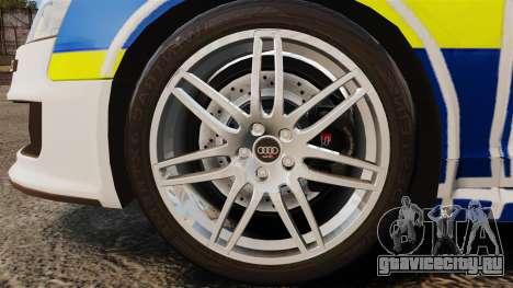 Audi RS6 Avant Metropolitan Police [ELS] для GTA 4 вид сзади