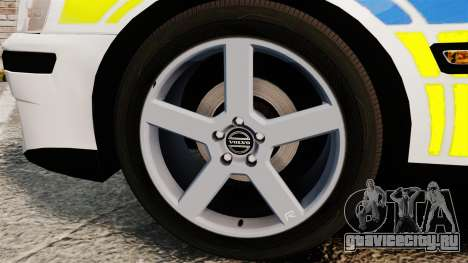 Volvo S60R Police [ELS] для GTA 4 вид сзади