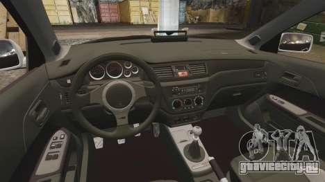 Mitsubishi Lancer Evolution IX Police [ELS] для GTA 4 вид изнутри