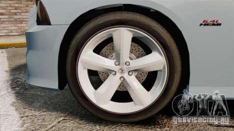 Dodge Charger 2012 для GTA 4 вид сзади