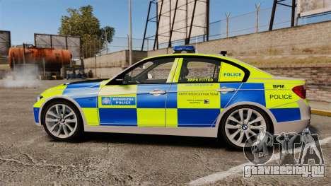 BMW F30 328i Metropolitan Police [ELS] для GTA 4 вид слева