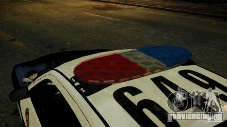 Dodge Charger LAPD 2008 для GTA 4 вид сзади