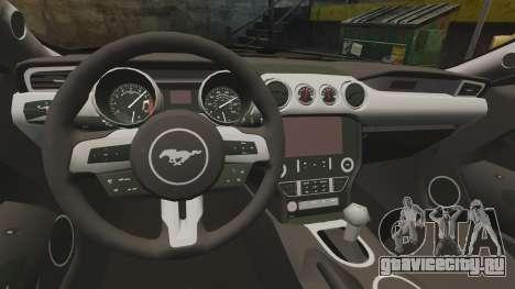 Ford Mustang GT 2015 Police для GTA 4 вид сзади