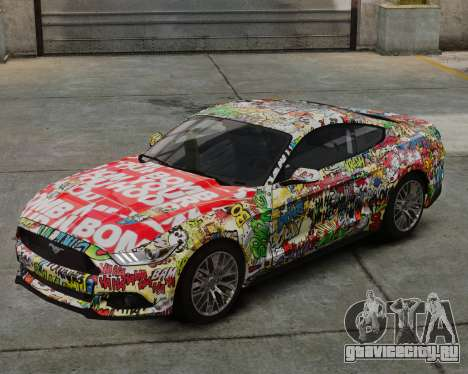 Ford Mustang GT 2015 Sticker Bombed для GTA 4