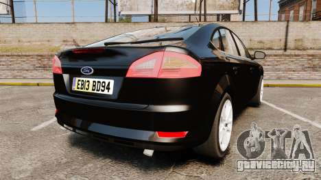 Ford Mondeo Unmarked Police [ELS] для GTA 4 вид сзади слева