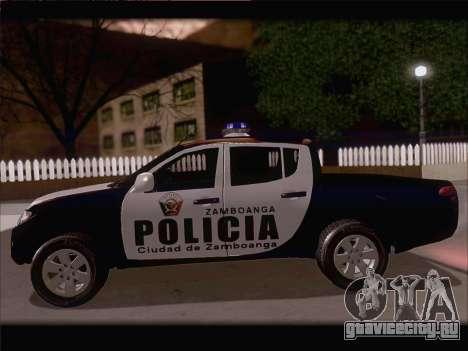 Mitsubishi L200 POLICIA для GTA San Andreas вид сзади