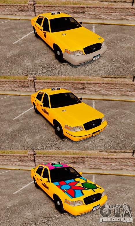 Ford Crown Victoria 1999 NYC Taxi v1.1 для GTA 4 вид изнутри