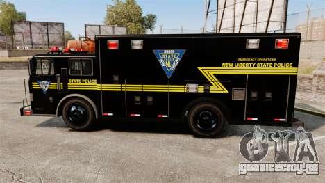 Hazmat Truck NLSP Emergency Operations [ELS] для GTA 4 вид слева