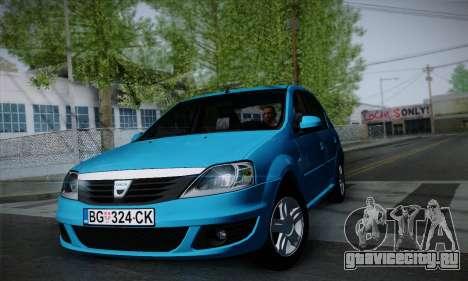 Dacia Logan для GTA San Andreas вид слева