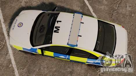 Volvo S60R Police [ELS] для GTA 4 вид справа