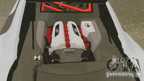 Audi R8 GT Coupe 2011 Drift для GTA 4 вид сбоку