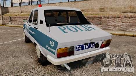Renault 12 Turkish Police [ELS] для GTA 4 вид сзади слева