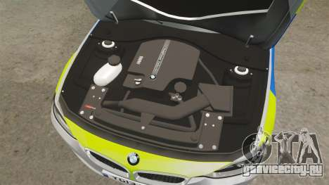 BMW F30 328i Metropolitan Police [ELS] для GTA 4 вид изнутри