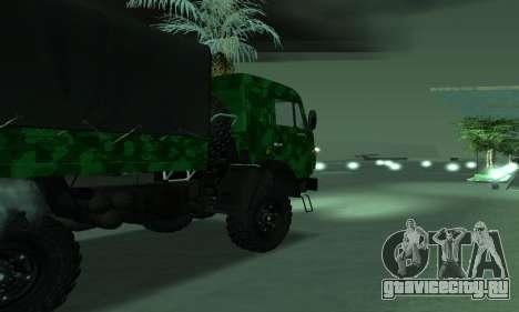 Армейский КАМАЗ 4310 для GTA San Andreas вид слева