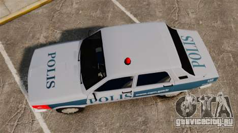 Renault 12 Turkish Police [ELS] для GTA 4 вид справа