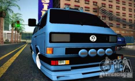 Volkswagen Transporter T2 Tuning для GTA San Andreas вид слева