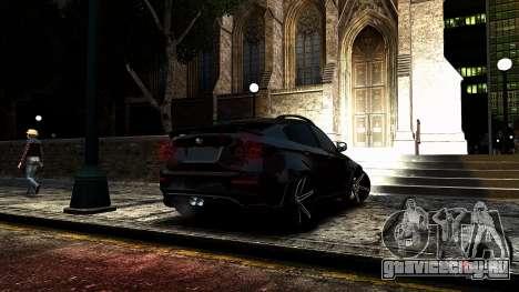 BMW X6 M Hamann 2013 Vossen для GTA 4 вид сбоку