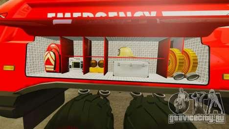 Pro Track SR2 Firetruck [ELS] для GTA 4 салон
