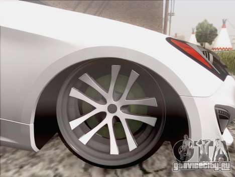 Hyundai Genesis Stance для GTA San Andreas вид сзади слева