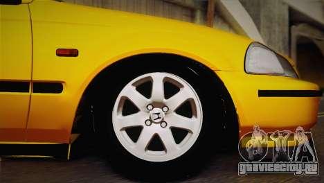 Honda Civic 1.4is TMC для GTA San Andreas вид справа