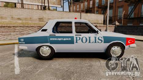 Renault 12 Turkish Police [ELS] для GTA 4 вид слева