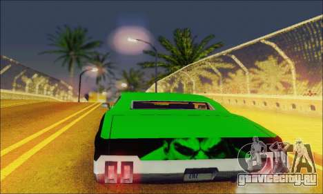 Modified Sabre Low для GTA San Andreas вид справа