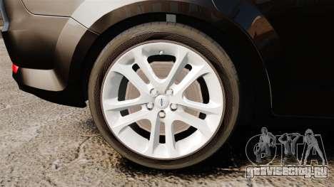 Ford Mondeo Unmarked Police [ELS] для GTA 4 вид сзади