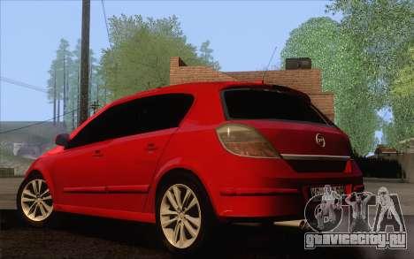 Opel Astra H для GTA San Andreas вид слева