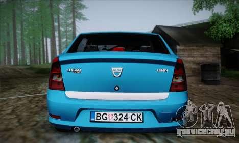 Dacia Logan для GTA San Andreas вид сбоку