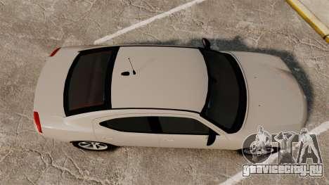 Dodge Charger Unmarked Police [ELS] для GTA 4 вид справа