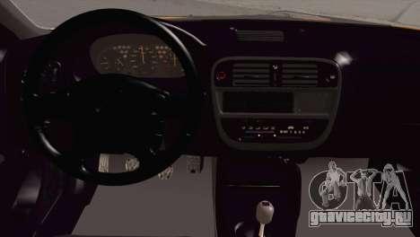 Honda Civic 1.4is TMC для GTA San Andreas вид сзади
