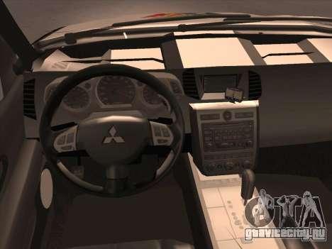 Mitsubishi L200 POLICIA для GTA San Andreas вид сверху