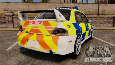 Mitsubishi Lancer Evolution IX Police [ELS] для GTA 4 вид сзади слева