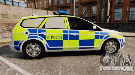 Ford Focus Estate 2009 Police England [ELS] для GTA 4 вид слева