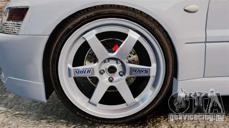 Mitsubishi Lancer Unmarked Police [ELS] для GTA 4 вид сзади