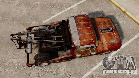 Chevrolet Tow truck rusty Rat rod для GTA 4 вид справа