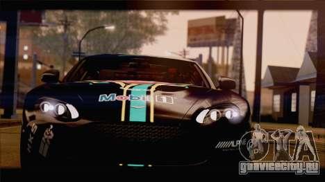 Aston Martin V12 Zagato 2012 [HQLM] для GTA San Andreas вид изнутри