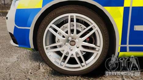 Audi S4 Avant Metropolitan Police [ELS] для GTA 4 вид сзади