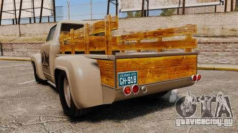 Hot Rod Truck Gas Monkey v2.0 для GTA 4 вид сзади слева