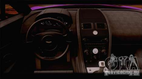 Aston Martin V12 Zagato 2012 [HQLM] для GTA San Andreas вид снизу