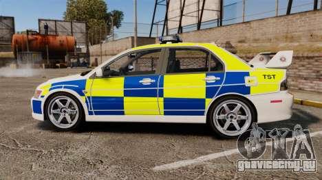 Mitsubishi Lancer Evolution IX Police [ELS] для GTA 4 вид слева