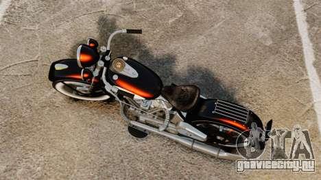 Harley-Davidson Knucklehead 1947 для GTA 4 вид сзади слева
