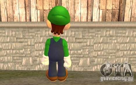 Луиджи для GTA San Andreas второй скриншот