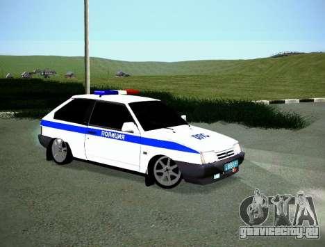 ВАЗ 2108 ДПС для GTA San Andreas вид справа