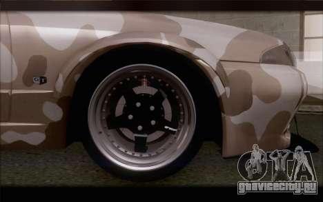 Nissan Skyline GTS Drift Spec для GTA San Andreas вид сзади слева