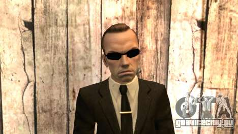 Смит из фильма Матрица для GTA San Andreas третий скриншот