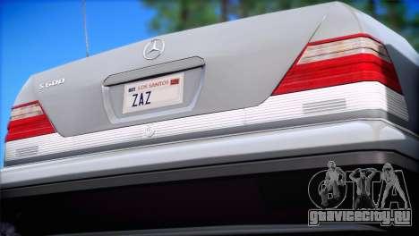 Mercedes-Benz S600 V12 V1.2 для GTA San Andreas вид слева