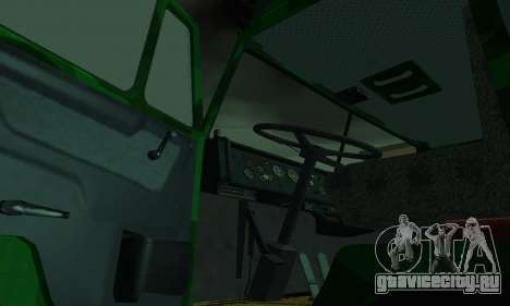 Армейский КАМАЗ 4310 для GTA San Andreas вид изнутри