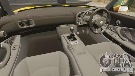 Honda S2000 (AP1) для GTA 4 вид изнутри